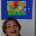 Sich selbst ausdrücken Anna malt